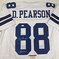 $99 » Autographed/Signed Drew Pearson ROH 2011 Dallas White Football Jersey JSA COA