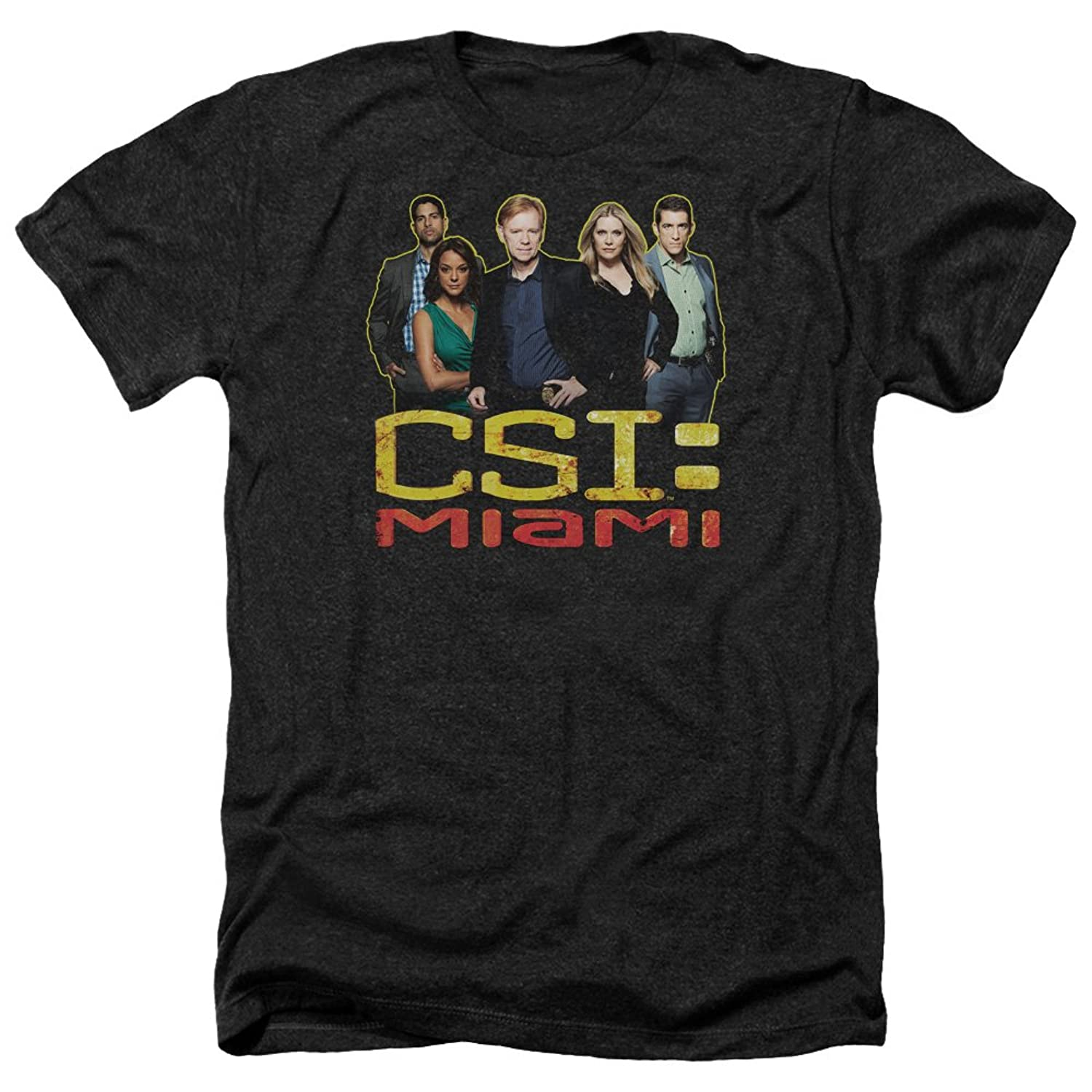 CSI Miami TV Show CBS The Cast In Black Adult Heather T-Shirt Tee