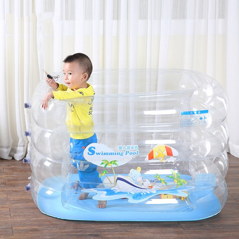 Sunhai& Multi-function Inflatable Play Pool ,Environmental Protection PVC Materials Folding Tub,Baby Children Swimming Pool(14011072cm) ( Size : 14011072cm )