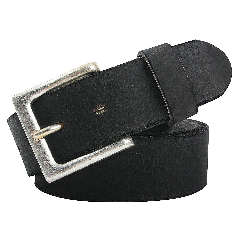 NPET Mens Leather Belt Full Grain Vintage Distressed Style Snap on Strap 1 1/2 Wide BZ030
