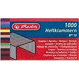 Herlitz Heftklammer No.10, 2x 1000 Stück auf Karte, verzinkt