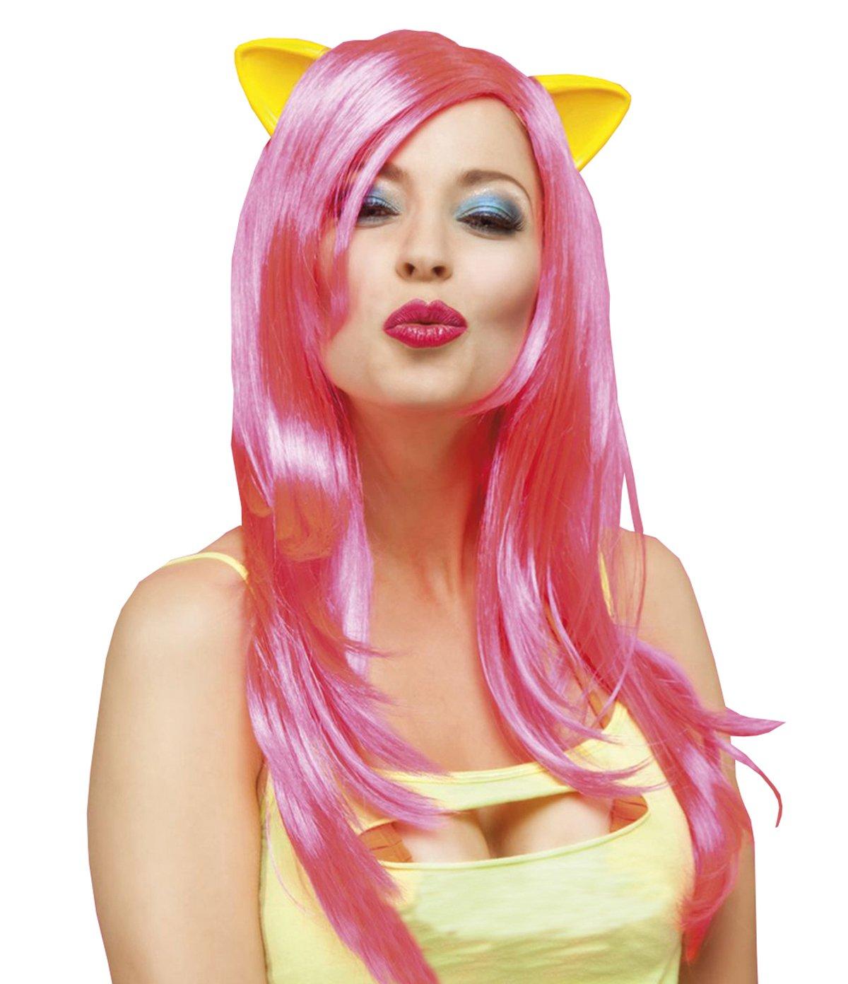 Boland 85708 Adultos Peluca purry, Color Rosa, One Size: Amazon.es: Juguetes y juegos