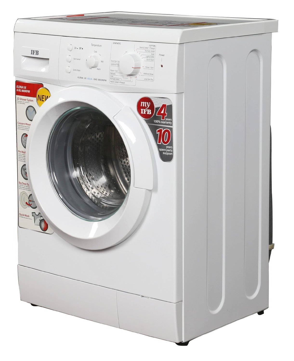 IFB Elena VX 800RPM Front-loading Washing Machine (6 Kg, White): Amazon.in:  Home & Kitchen