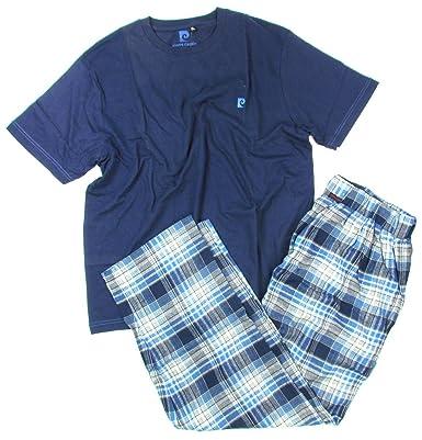 Pierre Cardin Pyjama Set Hose Pant Mens T Shirt Stripes Blue