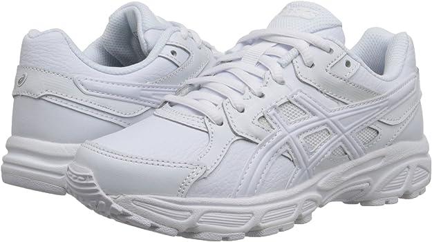 ASICS Zapatillas para correr Gel Contend 3 GS SL (Ni?o peque?o / Ni?o grande), Triple / Blanco / Nieve, 6,5 M US Big Kid: Amazon.es: Zapatos y complementos