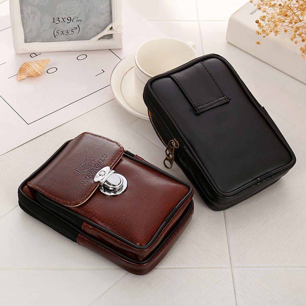 Trenton Mens Faux Leather Fanny Rucksack Pack Zipper Waist Bag Belt Clip Pouch