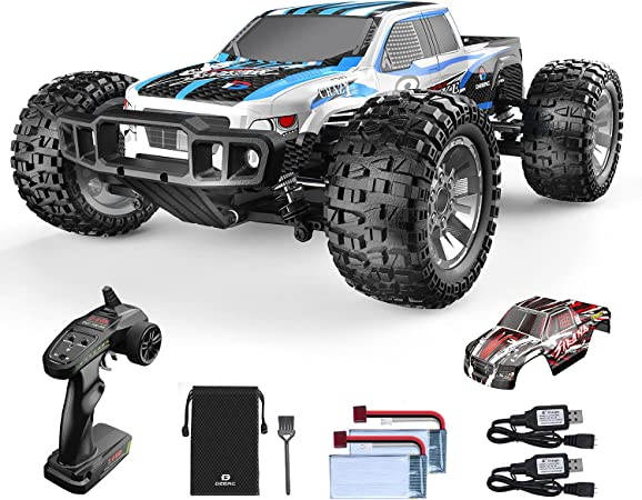 9200E RC Cars 1:10 Scale Large High Speed Remote Control Car for Adults Kids,48+ kmh 4WD 2.4GHz Off Road Monster Truck Toy,All Terrain Electric Vehicle Boy Gift with 2 Batteries for 40+ Min Play