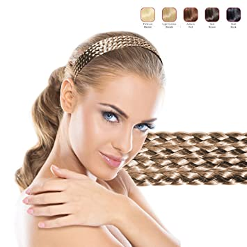 Amazon.com  Hollywood Hair Multiple Hair Braids Headband for Woman (Light  Blonde)  Beauty dbf5bee49e1