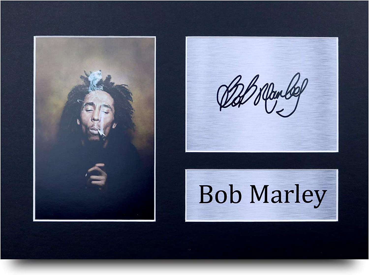 HWC Trading Bob Marley Signed A4 Printed Autograph Music Gift Print Photo Picture Display