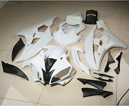 New Motorcycle White Unpainted ABS Plastic Injection Fairing Kit Cowl Bodywork Set Compatible For YAMAHA YZF R6 YZF-R6 2003-2004