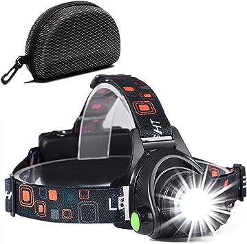 Linterna Frontal, a Prueba de Agua y Recargable con USB, Función ...