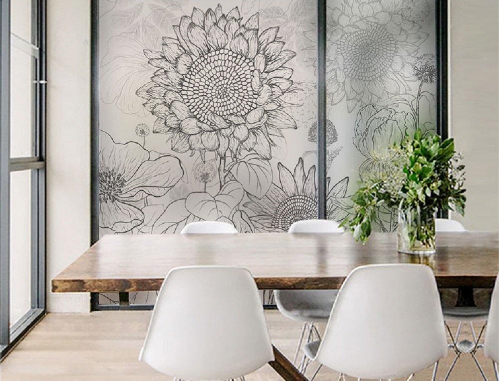 化を超えるLifeウィンドウフィルムSun Flower Dragonfly Non粘着つや消しプライバシーウィンドウフィルム自己Static Cling Window Decor Suitable for Home and Office S(0-6sq.ft) ゴールド B072VV633Z S(0-6sq.ft) ブラック ブラック S(0-6sq.ft)