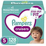 Diapers Size 5, 128 Count - Pampers Cruisers Disposable Baby Diapers, ONE MONTH SUPPLY (Packaging May Vary)