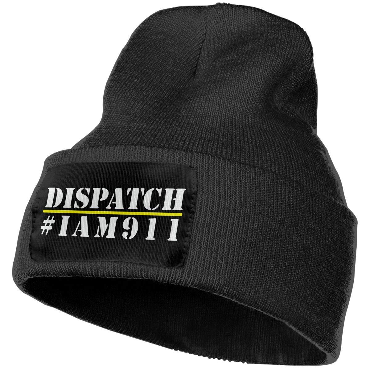 Unisex I Am 911 Dispatcher Outdoor Stretch Knit Beanies Hat Soft Winter Knit Caps