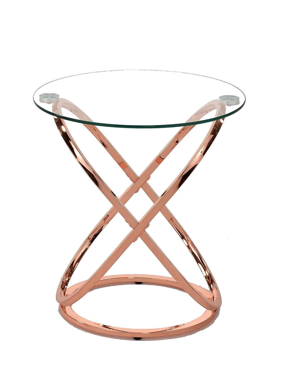 ASPECT Monarch Coffee/Side End Table, Copper, 52 x 52 x 56.5 cm STB42/CP
