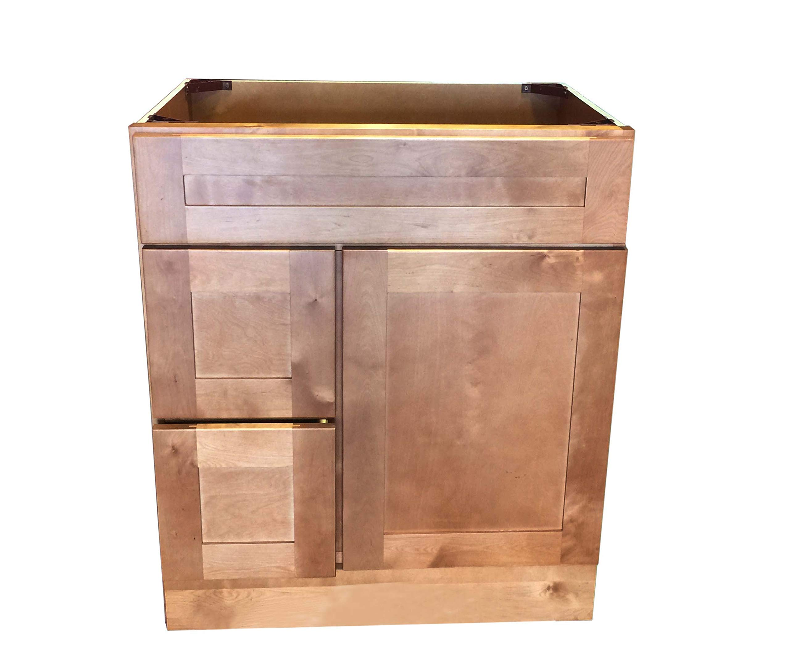 "New Maple Shaker Single-sink Bathroom Vanity Base Cabinet 30"" Wide x 21"" Deep MS-V3021DL/R - Maple Shaker Cabinet 30"" W x 21"" D x 34.5"" H assembly needed , Handles are not including !! Solid wood with hardwood plywood construction,Made of wood - bathroom-vanities, bathroom-fixtures-hardware, bathroom - 71oWY4G9n6L -"