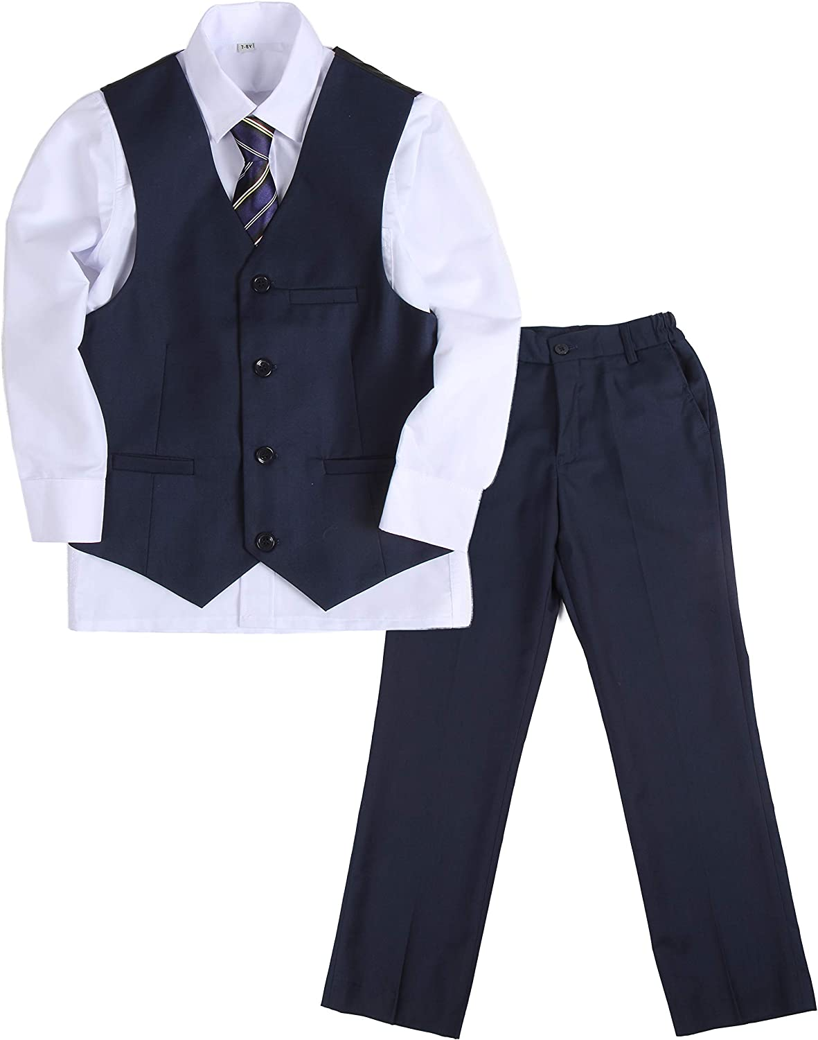 Y /& Z Page Boy Wedding Formal Christening Slim Navy Suit with Tie