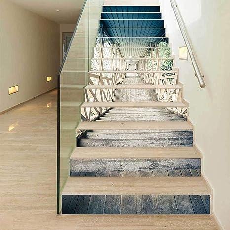 Pegatinas de escaleras Peeling Tiling Design Wall Tile Sticker Papel Pintado Autoadhesivo Decoración del Hogar: Amazon.es: Deportes y aire libre