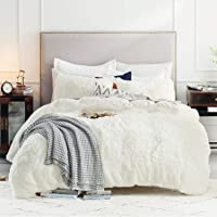 Bedsure Plush Shaggy Duvet Cover Set King Size (104x90 Inches) - Luxury Ultra Soft Fluffy Duvet Cover - 3 Pieces (1…