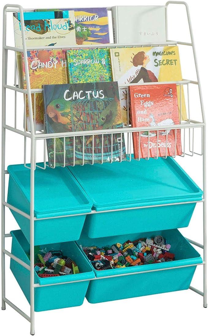 SoBuy KMB07-B Librería para Guardar Juguetes Libros Estantería ...