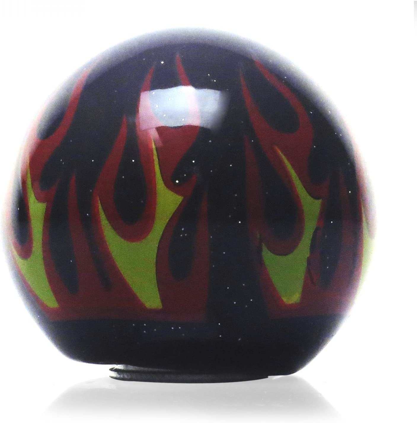 Green Volleyball American Shifter 223506 Black Flame Metal Flake Shift Knob with M16 x 1.5 Insert