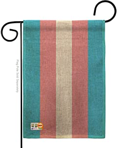 Americana Home & Garden Transgender Garden Flag Support Pride Rainbow Love LGBT Gay Bisexual Pansexual House Decoration Banner Small Yard Gift Double-Sided, Thick Burlap, Made in USA
