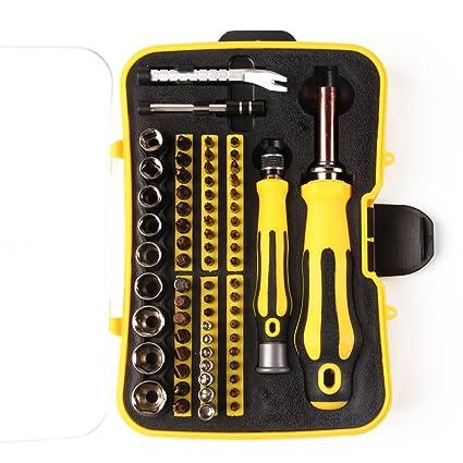 MPLUS Juego de Destornilladores de Precisión 70 en 1 Imantado Destornillador Conjunto Kit de Herramientas Profesionales de Reparación de Electrónica ...