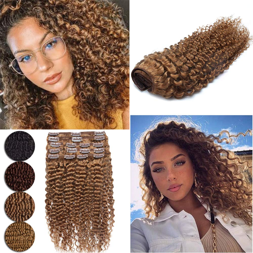 Kinky Popular shop is the lowest price challenge Curly Real Super sale period limited Hair Extensions Natural I Kinkys Clip Afro Remy