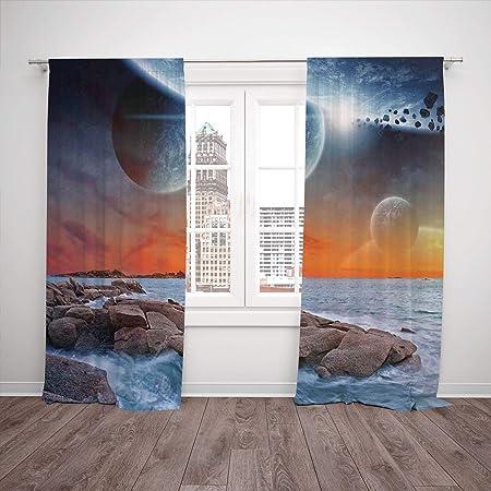 Juego de 2 cortinas para ventana, decoración de viaje, diseño ...