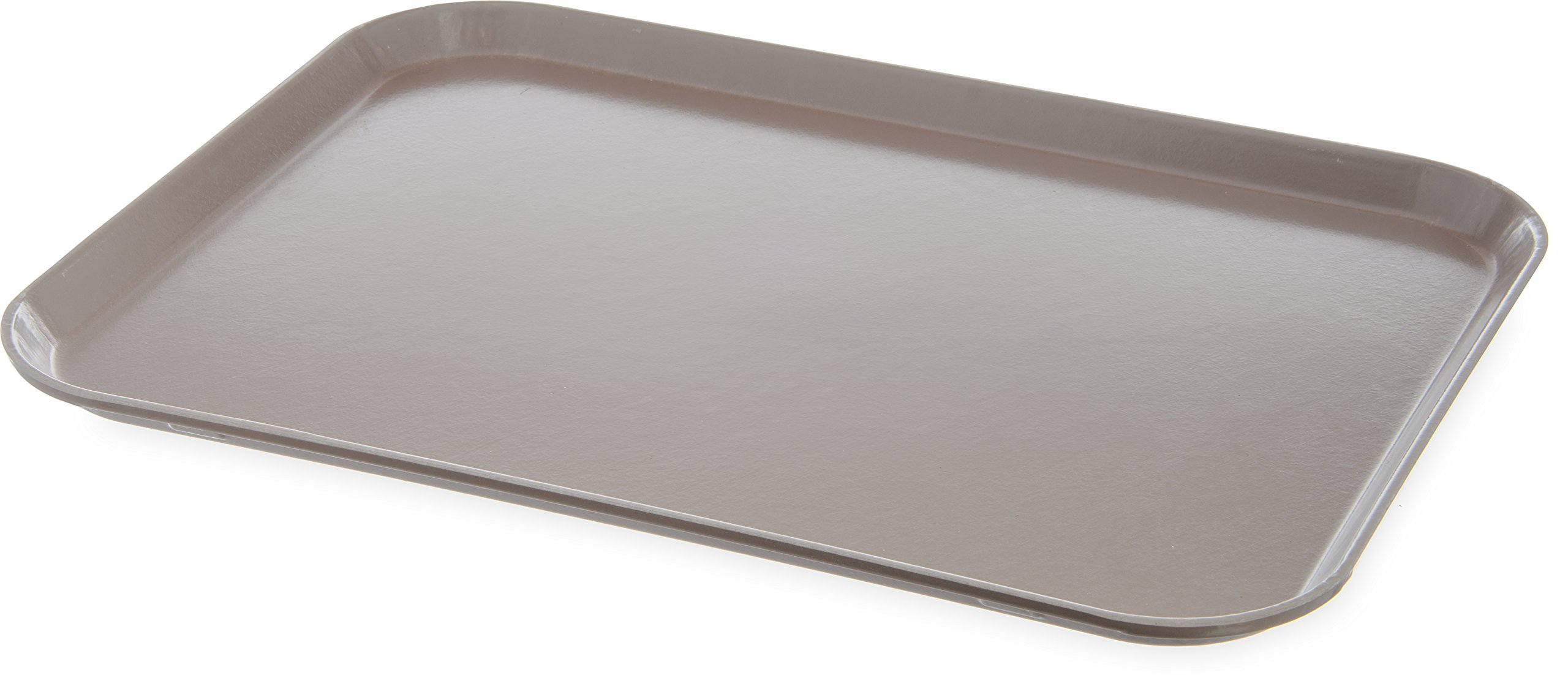 Dinex DX1089M31 Fiberglass Hospital Fast Food Tray, 0.5'' Height, 20'' Width, 15'' Length, Fiberglass, Latte (Pack of 12) by Dinex