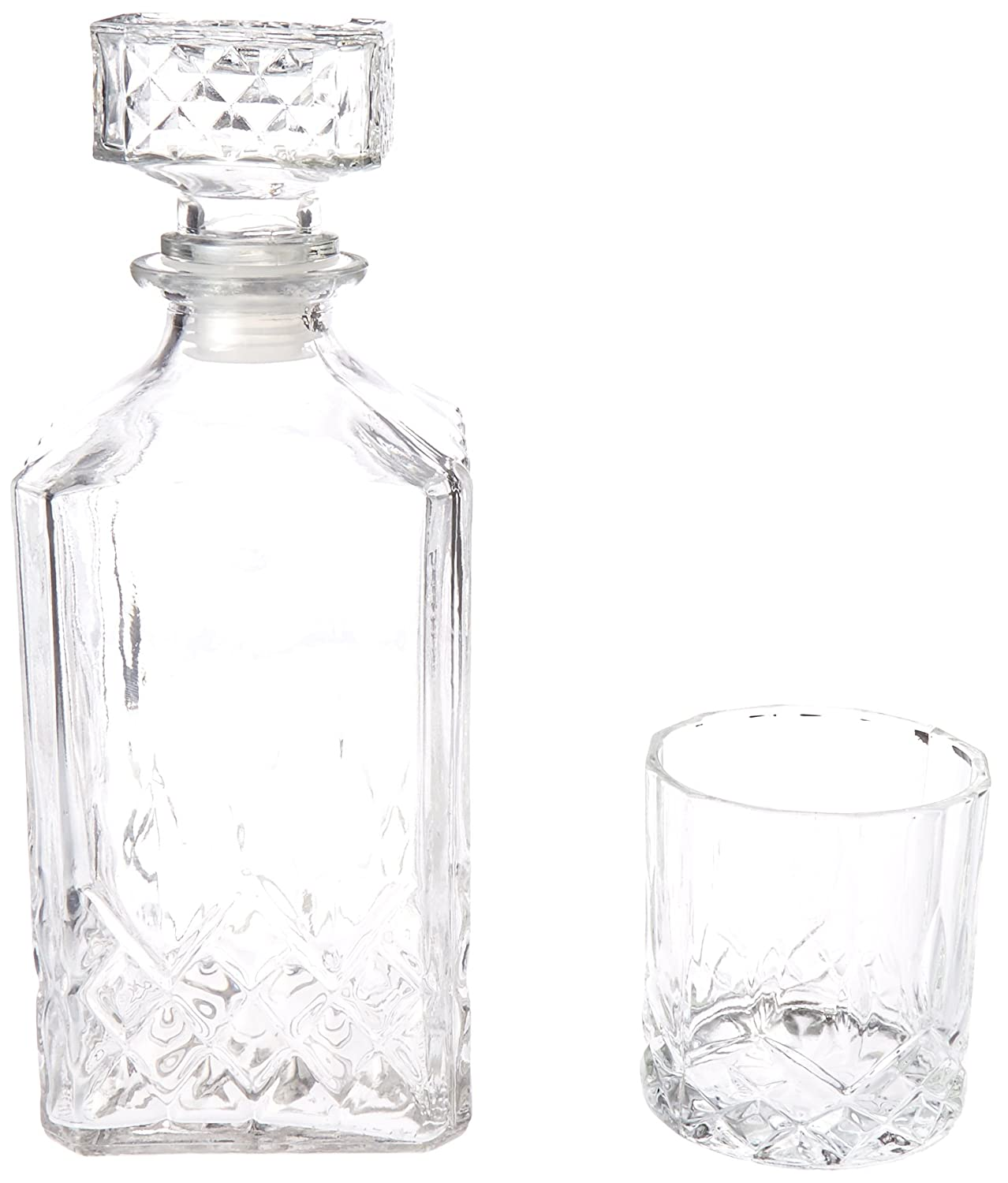 Style Setter Denmark 7 Piece Beverage/Decanter Set Clear 210275-7GB