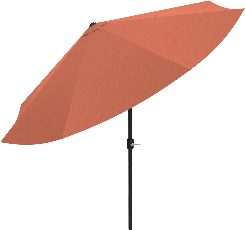 Pure Garden Patio Umbrella with Easy Crank and Auto Tilt Outdoor Table Umbrella for Deck, Balcony, Porch, Backyard, Poolside, 10 ft (Terracotta)