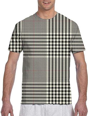 Camisetas para Hombres Negro Crema Camisa a Cuadros roja Camisetas para Hombres Camisetas para Hombres Camisetas para Hombres Camisetas Camisetas: Amazon.es: Ropa y accesorios