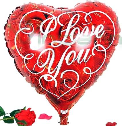Globo Balón hinchable Corazón Rojo Love Amor San Valentín fiesta ...