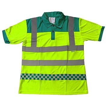 Paramédico EMT amblulance Reflectante Hi Visibilidad Polo: Amazon ...