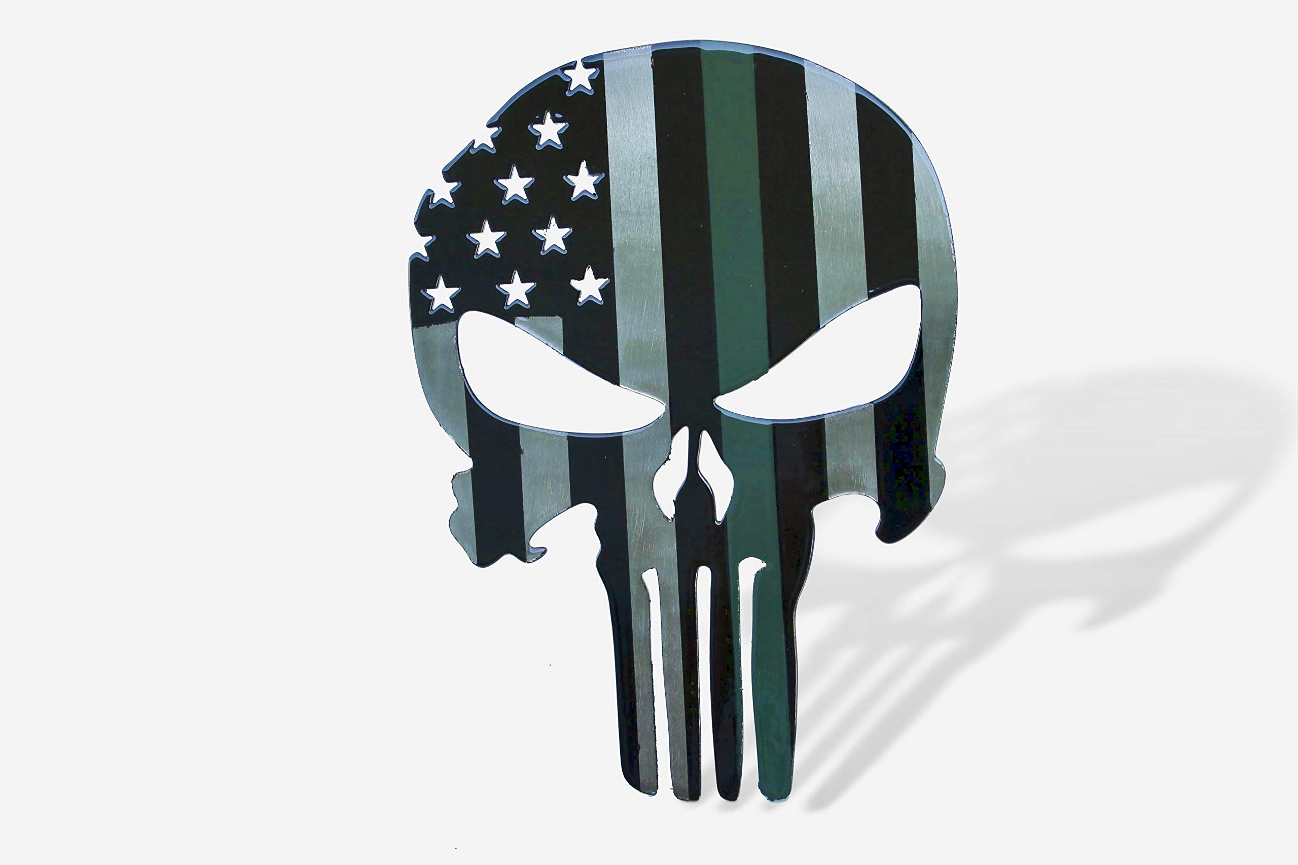 Fox MetalFab Powder Coated Trailer Hitch Cover Punisher (Army Green) by Fox MetalFab