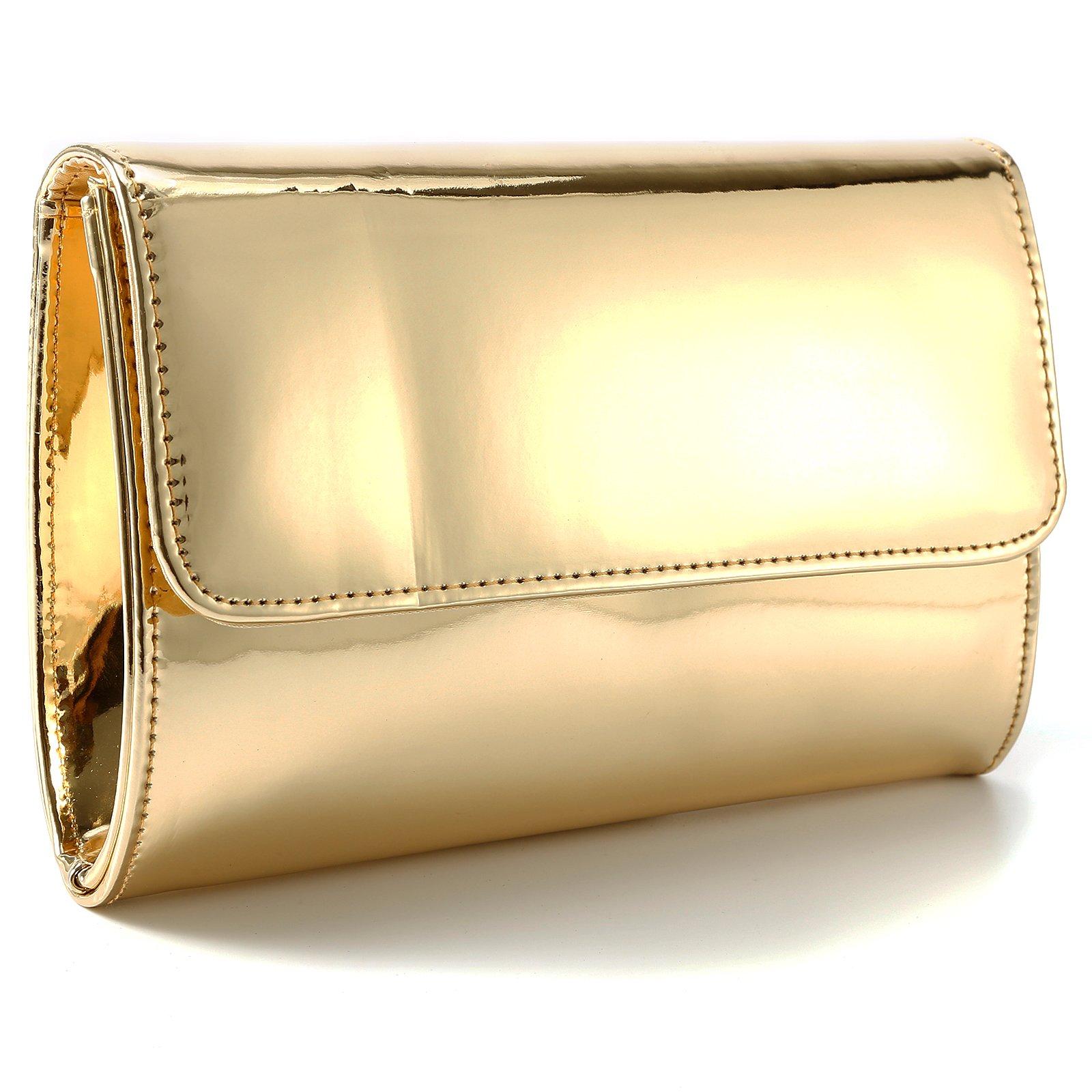 Fraulein38 Designer Mirror Metallic Women Clutch Patent Evening Bag by Fraulein38 (Image #2)