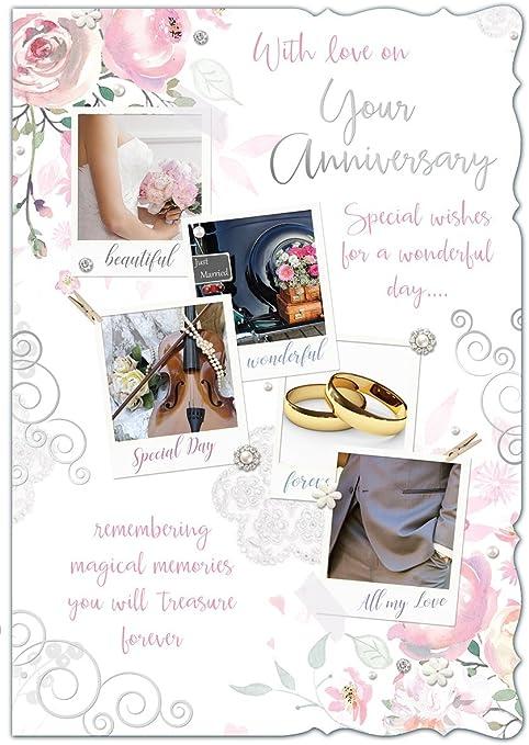 19 Anniversario Di Matrimonio.Biglietto Di Auguri Per Anniversario Di Matrimonio Raffigurante