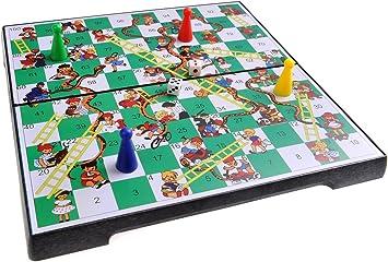 Quantum Abacus Juego de Mesa magnético (tamaño de Viaje): Serpientes y Escaleras - Piezas magnéticas, Tablero Plegable, 20cm x 20cm x 2cm, Mod. SC2430 (DE): Amazon.es: Juguetes y juegos