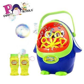 Máquina de burbujas para niños, máquina de soplado de burbujas portátil, soplador de burbujas