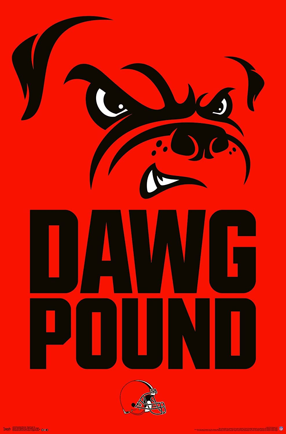 Dog Pound Wall Poster Trends International Cleveland Browns 24.25 X 35.75 Multi