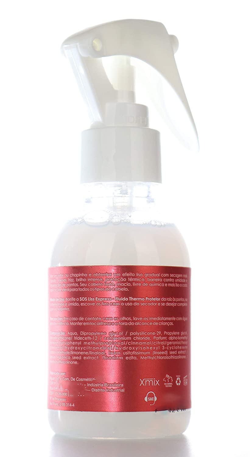 Amazon.com : Felps Professional SOS Liss Express Thermal protector. Use With Flat Irons, Hair Dryers & Hot Brush. 4.4 OZ / 100 ML : Beauty