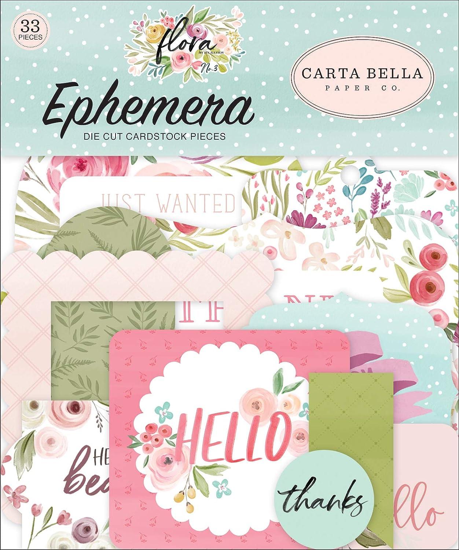 Flora N/°3 Taille unique Ic/ône Carta Bella NO.3 Ephemera
