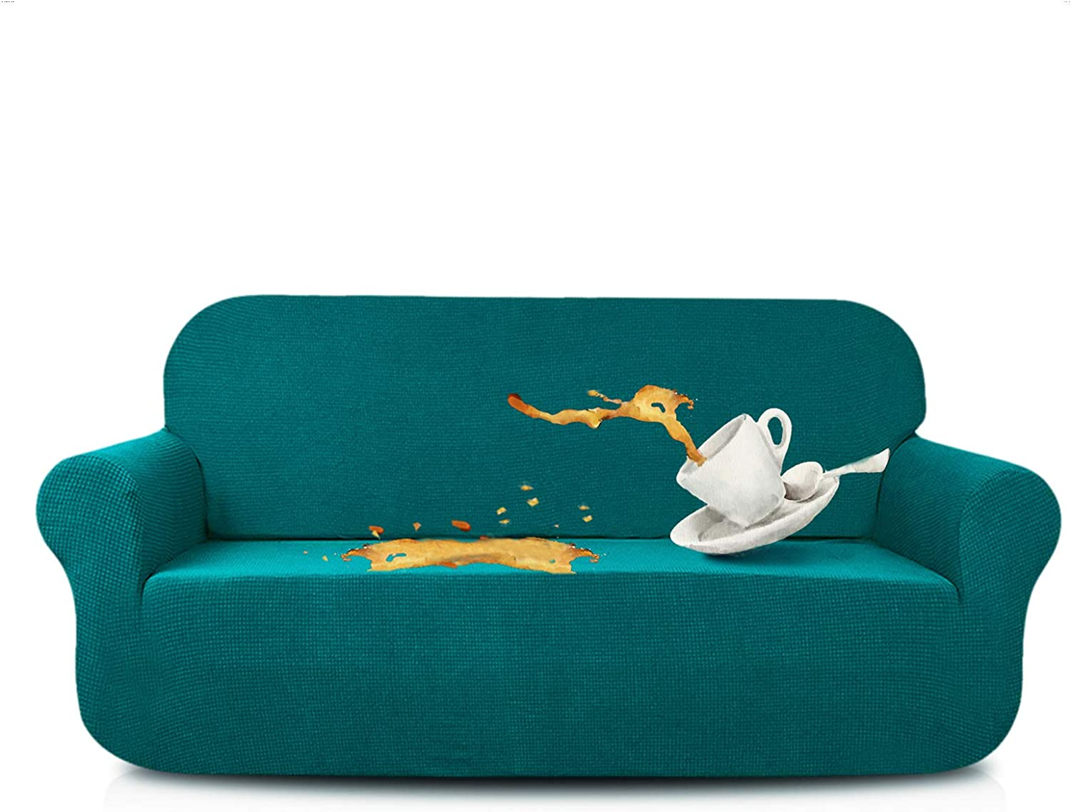 PengXiang Stretch Slipcover Loveseat Protector Cover Only Elastic Bottom 3611*