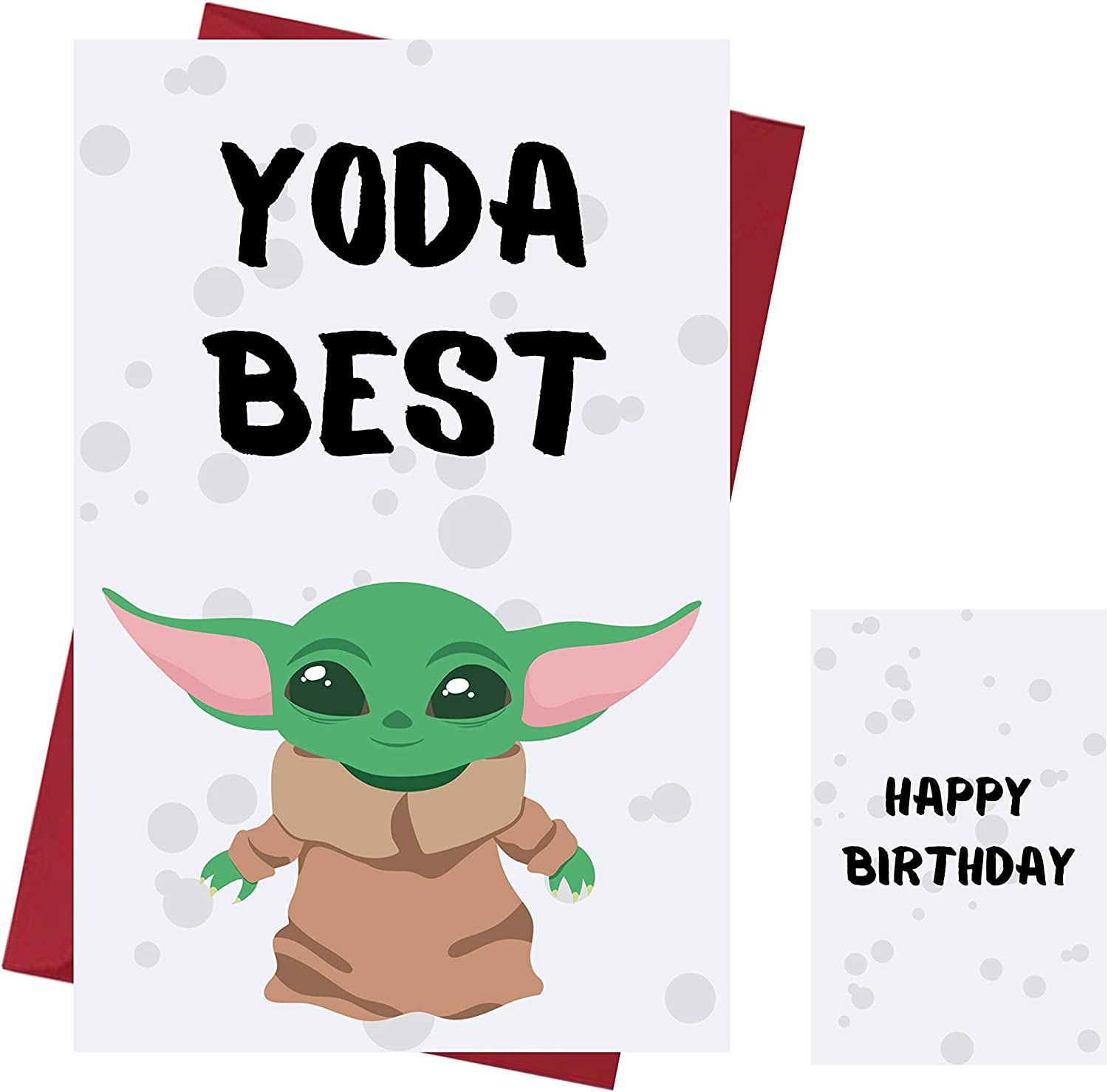 Amazon Com Funny Baby Yoda Birthday Card Baby Yoda Anniversary Card Star Wars Happy Birthday Card Star Wars Birthday Card With Enveloppe Office Products