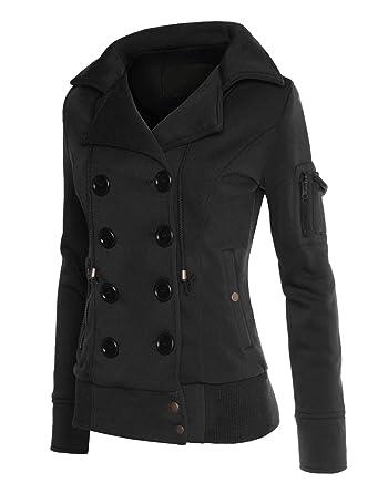 RubyK Womens Plus Size Classic Pea Coat Jacket with Hood at Amazon ...