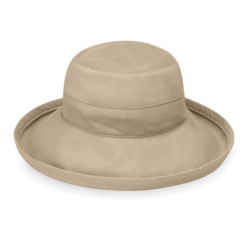 Wallaroo Hat Company Women's Seaside Sun Hat - UPF 50+ 4'' Brim Microfiber Adjustable Fit (Camel) by Wallaroo Hat Company