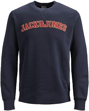 JACK & JONES - Sudadera - para Hombre Azul Eclipse Navy L