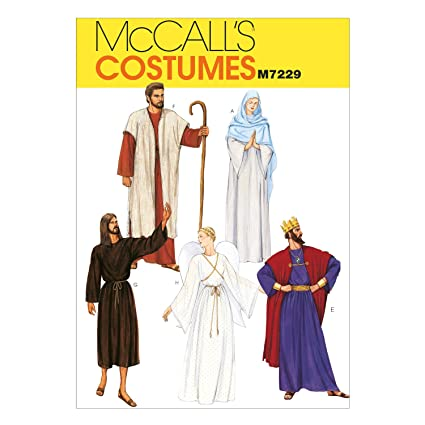 amazon com mccall patterns m7229 christmas robe costumes sewing