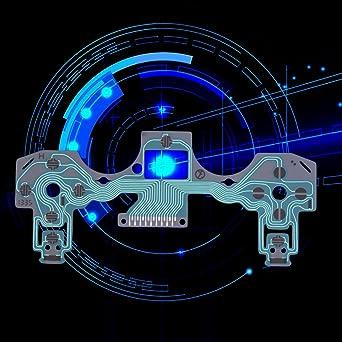 Parte de Reparación de Teclado de Película Conductiva para PlayStation 4 para Controlador PS4 (Color